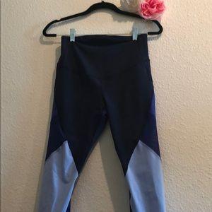 Pants - Blue mesh maternity workout leggings